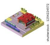 train  subway or tram station... | Shutterstock .eps vector #1254224572