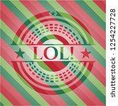lol  christmas badge background.   Shutterstock .eps vector #1254227728