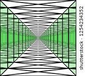 long corridor with transparent...   Shutterstock .eps vector #1254234352