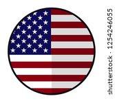 flag america   flat style... | Shutterstock .eps vector #1254246055