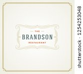 restaurant logo template vector ... | Shutterstock .eps vector #1254253048