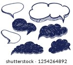 vector speech bubbles...   Shutterstock .eps vector #1254264892