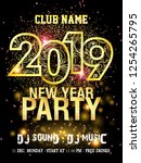 new year party backgrounds... | Shutterstock .eps vector #1254265795
