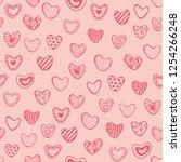 cute romantic seamless pattern. ...   Shutterstock .eps vector #1254266248