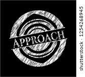 approach on chalkboard | Shutterstock .eps vector #1254268945
