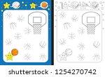 preschool worksheet for... | Shutterstock .eps vector #1254270742