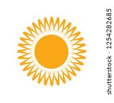 sun icon vector | Shutterstock .eps vector #1254282685