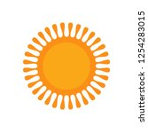 sun icon vector | Shutterstock .eps vector #1254283015