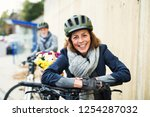 active senior couple with... | Shutterstock . vector #1254287032