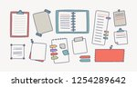 collection of notebooks and... | Shutterstock .eps vector #1254289642
