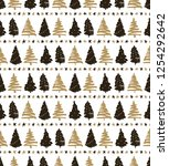 seamless holiday pattern ... | Shutterstock .eps vector #1254292642