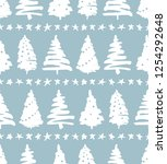 seamless holiday pattern ... | Shutterstock .eps vector #1254292648