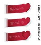 valentines day set of three... | Shutterstock .eps vector #125429855
