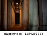 column colonnade greco roman... | Shutterstock . vector #1254299365