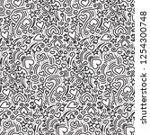 hand drawn doodle seamless... | Shutterstock .eps vector #1254300748
