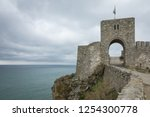 gate of ancient fortress... | Shutterstock . vector #1254300778