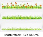 set of  backgrounds with vector ... | Shutterstock .eps vector #125430896