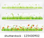 set of  backgrounds with vector ... | Shutterstock .eps vector #125430902