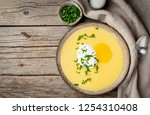 polenta  porridge with parmesan ...   Shutterstock . vector #1254310408
