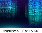 digital binary code matrix... | Shutterstock . vector #1254327832