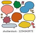 speech bubbles speech balloon   Shutterstock .eps vector #1254343975