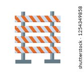 road barrier icon flat isolated ... | Shutterstock .eps vector #1254349858