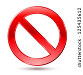 empty ban sign. illustration on ... | Shutterstock .eps vector #125435612
