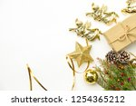 christmas and happy new year... | Shutterstock . vector #1254365212