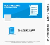 blue business logo template for ... | Shutterstock .eps vector #1254378058