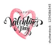 happy valentine's day... | Shutterstock .eps vector #1254386545