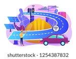building engineer and smart...   Shutterstock .eps vector #1254387832