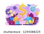 b2b sales person selling... | Shutterstock .eps vector #1254388225