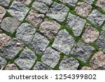 Background Of Old Cobblestone...