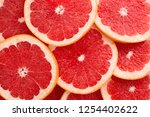 Close up grapefruit slices...