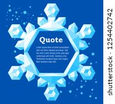 frame text box. crystal icy... | Shutterstock .eps vector #1254402742