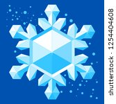crystal glossy icy snowflake.... | Shutterstock .eps vector #1254404608