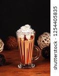 beautifully designed latte...   Shutterstock . vector #1254405835