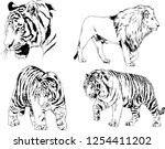 set of vector drawings on the... | Shutterstock .eps vector #1254411202