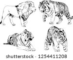 set of vector drawings on the... | Shutterstock .eps vector #1254411208