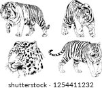 set of vector drawings on the... | Shutterstock .eps vector #1254411232