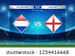 netherlands vs england and... | Shutterstock .eps vector #1254416668
