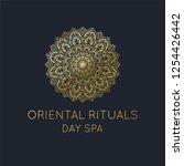 oriental logo  gold mandala...   Shutterstock .eps vector #1254426442