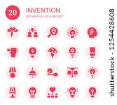 invention icon set. collection... | Shutterstock .eps vector #1254428608