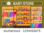 baby store with children items. | Shutterstock .eps vector #1254433675