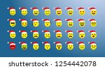 set of x mas elements smiling... | Shutterstock .eps vector #1254442078