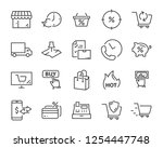 set of shopping icons  such as...   Shutterstock .eps vector #1254447748