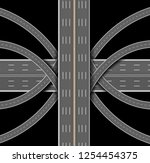 car highway. the denouement of... | Shutterstock .eps vector #1254454375
