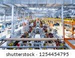 Automotive production line. Welding car body. Modern car Assembly plant - stock photo