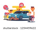 setting car for sale vector... | Shutterstock .eps vector #1254459622