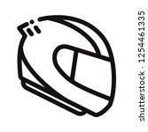 racing helmet icon | Shutterstock .eps vector #1254461335